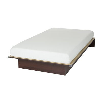 Somea Twin Platform Bed with Mattress Color: Royal Cherry