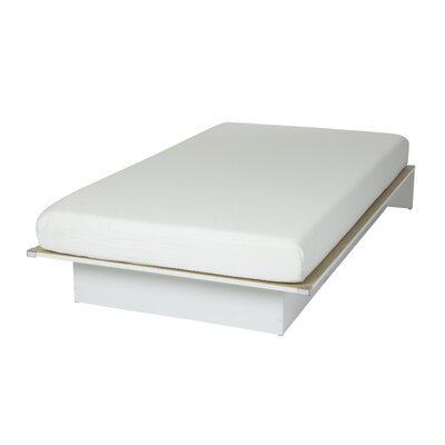 Somea Twin Platform Bed with Mattress Color: Pure White