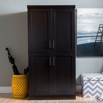 Preciado Rustic Wardrobe Armoire Color: Pure Black