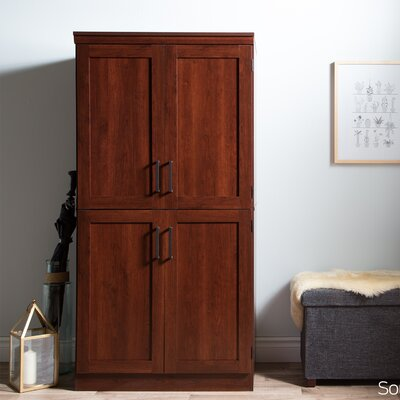 Preciado Rustic Wardrobe Armoire Color: Royal Cherry
