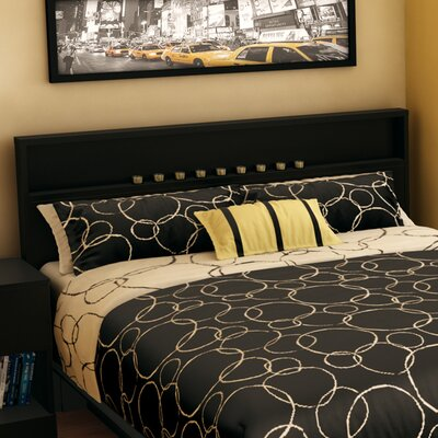 Holland Full/Queen Panel Headboard Color: Pure Black