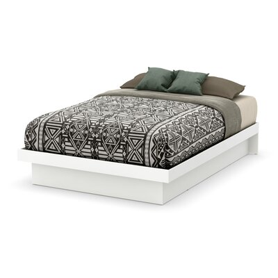 Full/Double Platform Bed Color: Pure White