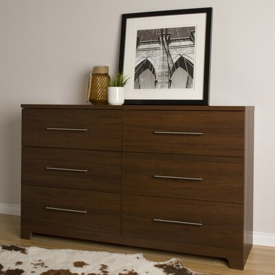 Primo 6 Drawer Dresser Finish: Brown Walnut
