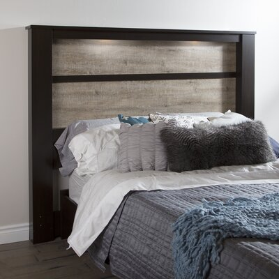 Gloria King Panel Headboard Finish: Chocolate / Weathered Oak