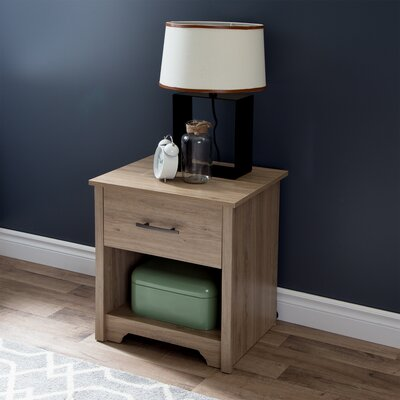 Fusion 1 Drawer Nightstand Finish: Rustic Oak