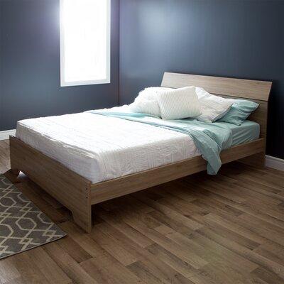 Fusion Queen Platform Bed Finish: Rustic Oak