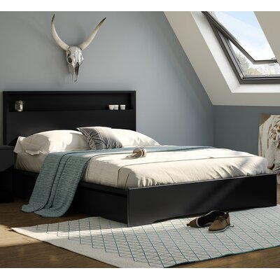 Basic Queen Storage Platform Bed Color: Pure Black