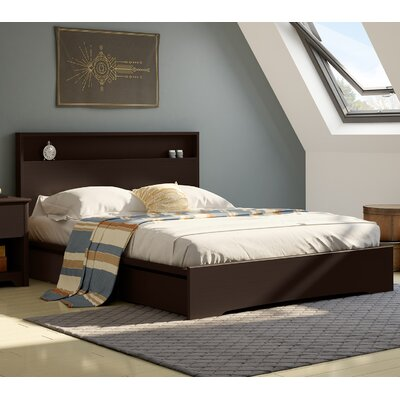 Basic Queen Storage Platform Bed Upholstery: Chocolate