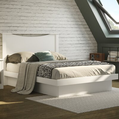 Full/Double Platform Bed Finish: Pure White