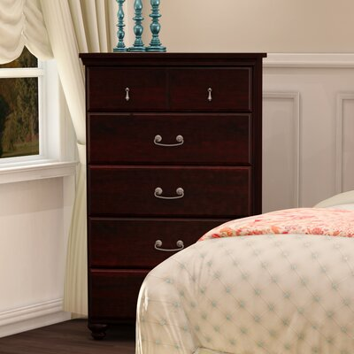 Noble 5 Drawer Chest Color: Dark Mahogany