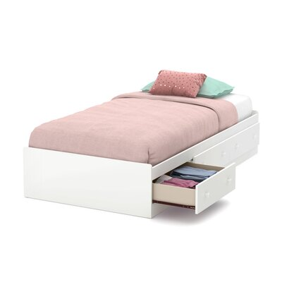 Little Smileys Twin Mates Bed With 3 Drawers Finish: Pure White