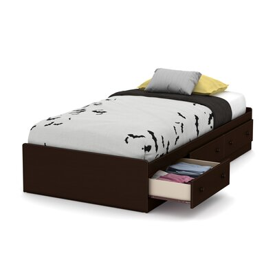Little Smileys Twin Mates Bed With 3 Drawers Color: Espresso