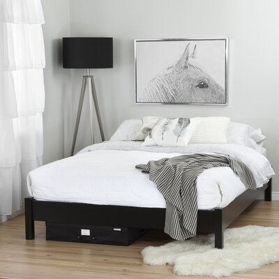 Step One Queen Platform Bed Color: Pure Black