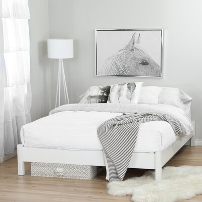Step One Queen Platform Bed Color: Pure White