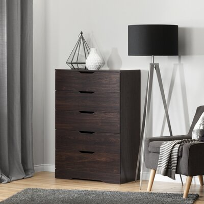 Holland 5 Drawer Chest Finish: Havana