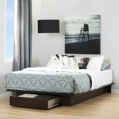Holland Queen Platform Bed Color: Havana
