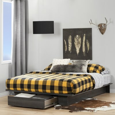 Holland Queen Platform Bed Color: Gray Oak