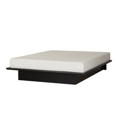 Step One Platform Bed with Mattress Color: Pure Black