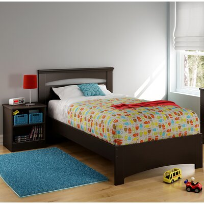 Libra Twin Platform Bed Finish: Chocolate