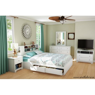 Vito Queen Storage Platform Bed Color: Pure White