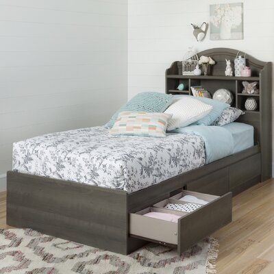 Savannah Twin Mates & Captains Bed with 3 Drawers Color: Gray maple