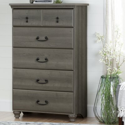 Noble 5 Drawer Chest Color: Gray Maple