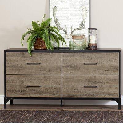 Valet 4 Drawer Double Dresser