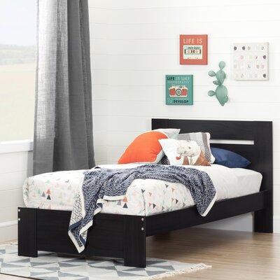 Reevo Twin Platform Bed Color: Black Onyx