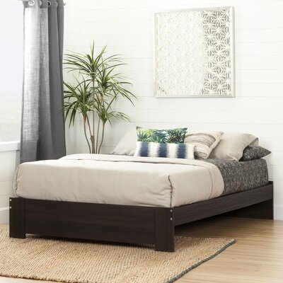 Reevo Queen Platform Bed Color: Matte Brown