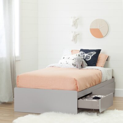 Cookie Twin Mates Bed with Storage Color: Soft Gray