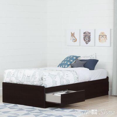 Twin Mates Bed with 3 Drawer Color: Chocolate