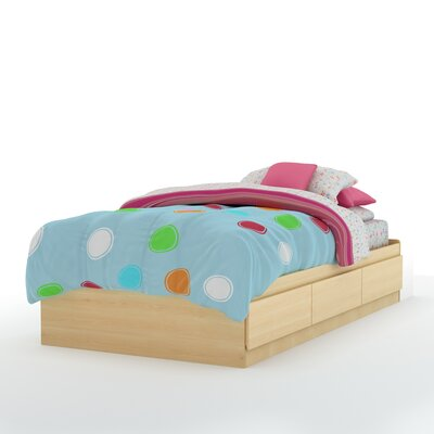 Twin Mates Bed with 3 Drawer Color: Natural Maple