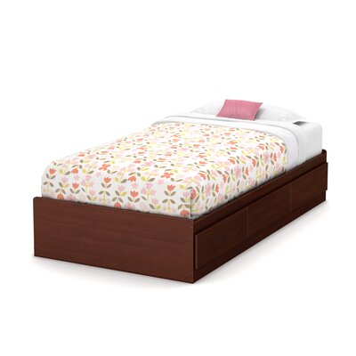 Twin Mates Bed with 3 Drawer Color: Royal Cherry