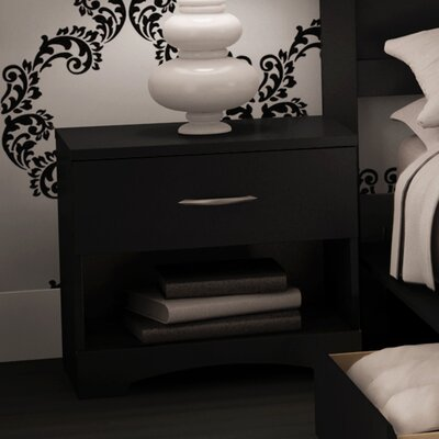 Infinity 1 Drawer Nightstand Color: Pure Black