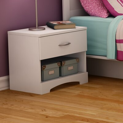 Step One 1 Drawer Nightstand Color: Pure White