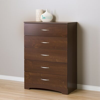 Back Bay 5 Drawer Chest Color: Cherry