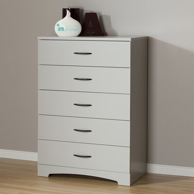 Back Bay 5 Drawer Chest Color: Soft Gray