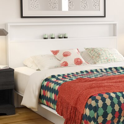 Holland Bookcase Headboard Finish: White