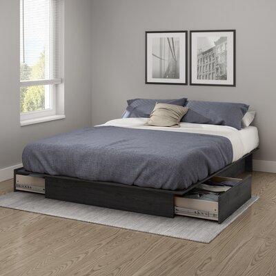 Step One Platform Bed Color: Gray Oak, Size: Full/Queen