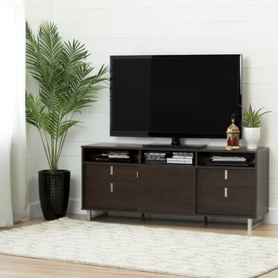Uber 61 TV Stand Color: Brown Oak