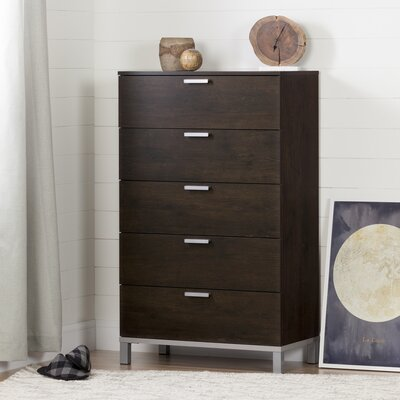 Flexible 5 Drawer Chest Color: Brown Oak