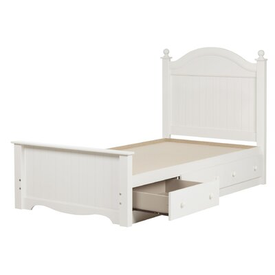 Savannah Twin Panel Bed with Storage Finish: Pure White