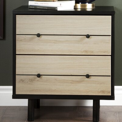Morice 2 Drawer Nightstand
