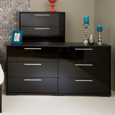 Mikka 6 Drawer Double Dresser