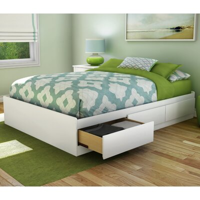 Step One Full/Double Storage Platform Bed Color: Pure White