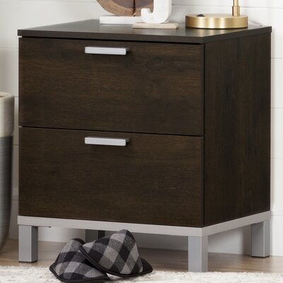 Flexible 2 Drawer Nightstand Finish: Brown Oak