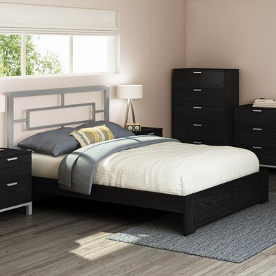 Flexible Queen Platform Bed Color: Black Oak