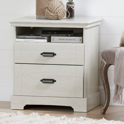Avilla 2 Drawer Nightstand