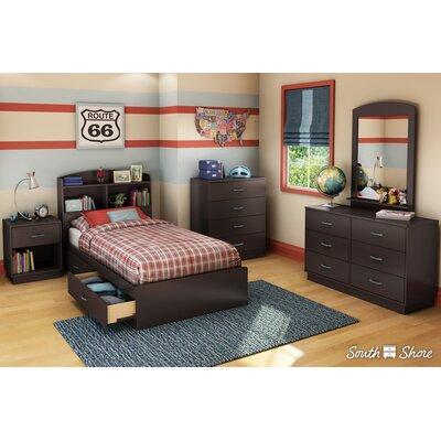 Logik Twin Mates Bed with Storage Finish: Chocolate