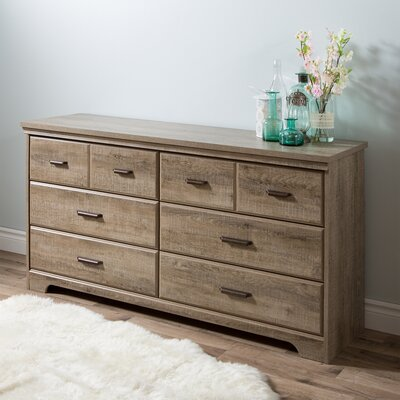 Versa 6 Drawer Double Dresser Color: Weathered Oak